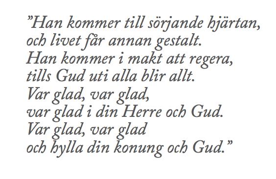 "Veckobrev 151129 – ""Gott Nytt Kyrkoår…"""