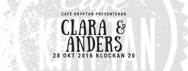 Clara & Anders på Kryptan 28 okt