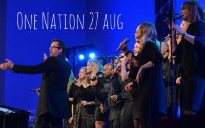 One Nation medverkar i gudstjänsten 27 aug