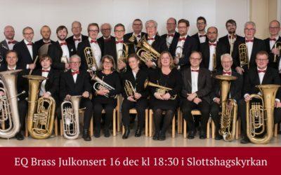 EQ Brass – Julkonsert 16 december kl 18:30