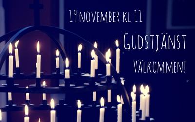 Gudstjänst 19 november kl 11