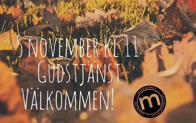 Gudstjänst 5 november
