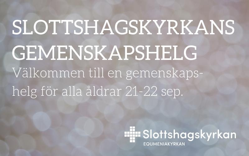 Gemenskapshelg 21-22 september
