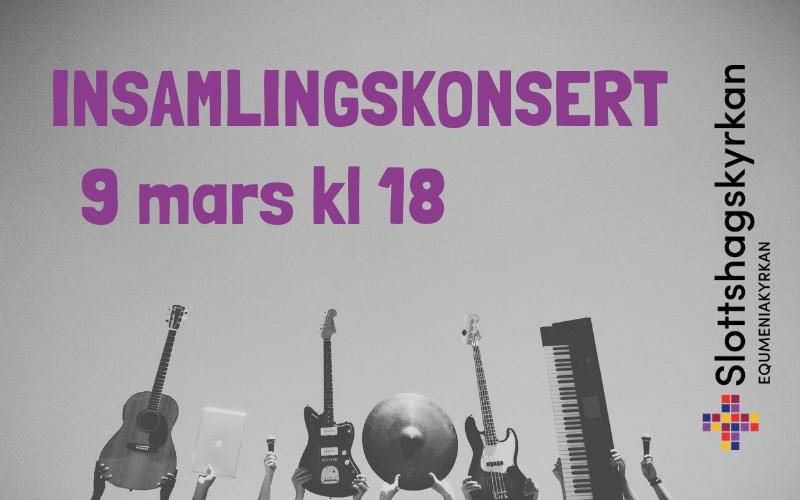Insamlingskonsert – 9 mars kl 18