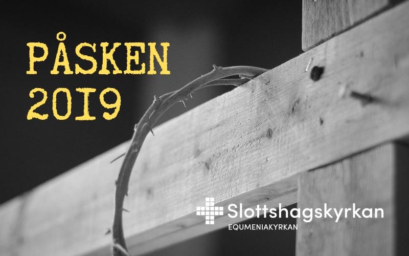 Påsken 2019 - kors slottshagskyrkan
