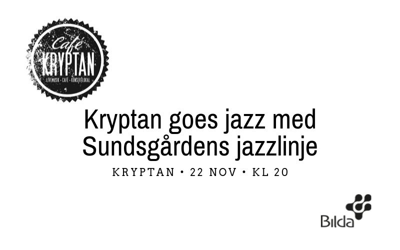 Kryptan goes jazz (och lite gospel) – 22 nov kl 20