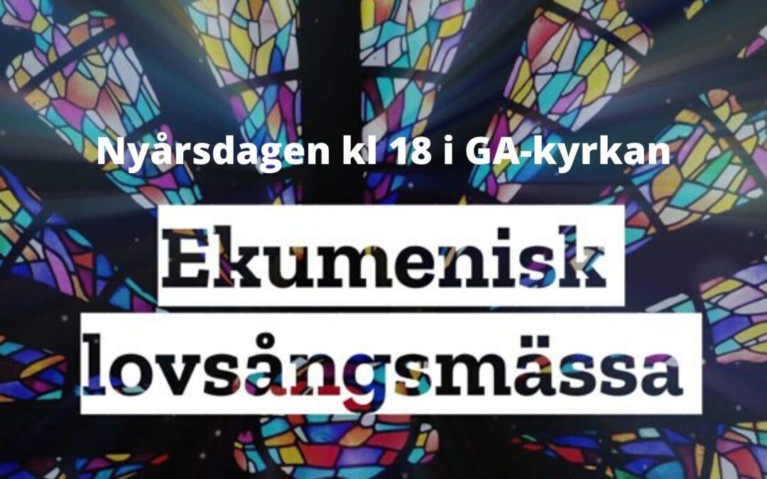 Ekumenisk nyårsmässa – 1 jan kl 18