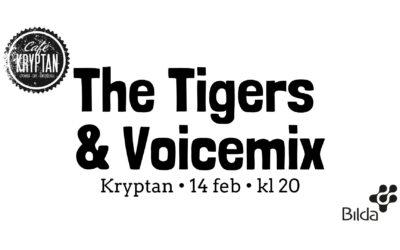 Kryptan 14 feb kl 20 – The Tigers & Voicemix