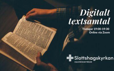 Välkommen till digitalt textsamtal!
