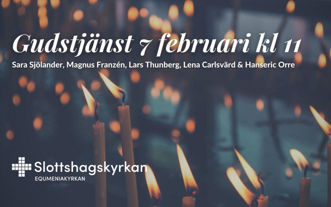Gudstjänst – 7 februari kl 11