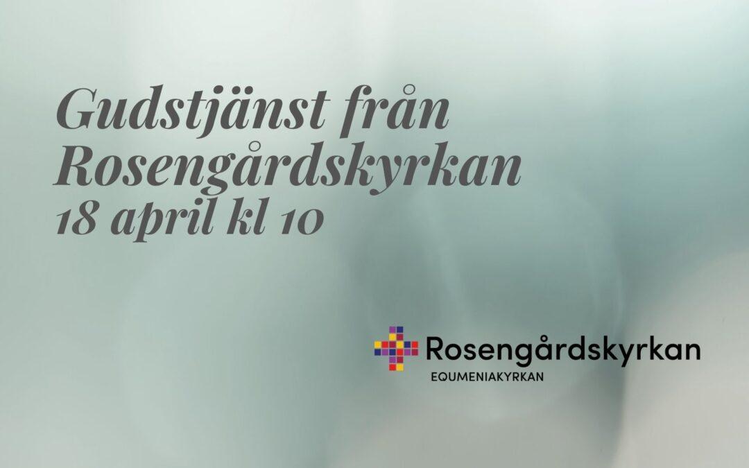 Gudstjänst – 18 april kl 10